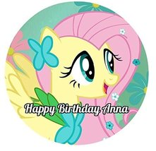 My Little Pony Round Edible Image Photo Cake Topper Sheet Personalized C... - $8.50