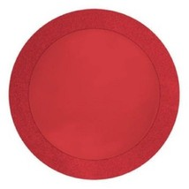 "16 Pcs Creative Converting Glitz Red Round 14"" Paper Placemats with 2"" G... - $19.75"