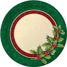 "24 Pcs Luncheon Plates 9"" Creative Converting Festive Greenery - £6.15 GBP"