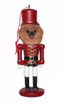 POMERANIAN CHRISTMAS ORNAMENT NUTCRACKER SOLDIER HOLIDAY 5 in - $12.98