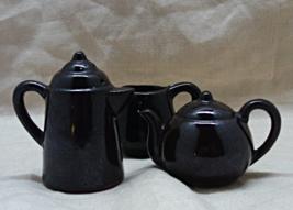 Vintage Red Ware Pottery Tea Pot Salt & Pepper Shakers // Decorative S&P Shakers - $10.00