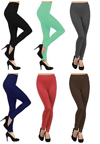 Primary image for ICONOFLASH Women's Bundle Fleece Lined Legging Packs, (6-Pairs, Wild Wonder)