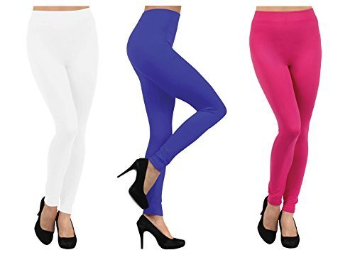 Primary image for ICONOFLASH Women's Bundle Fleece Lined Legging Packs, (3-Pairs, Sunset Dream)