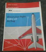 Vtg BEA British European Airways Airline Safety Magazine Ads Route Maps ... - $18.68