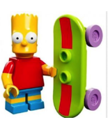 Lego Simpsons Minifig BART SIMPSON with SKATEBOARD New - $6.99