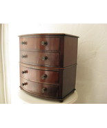 19th Century Antique Apprentice Cabinet Inlaid Chest of Drawers, - $1,595.00