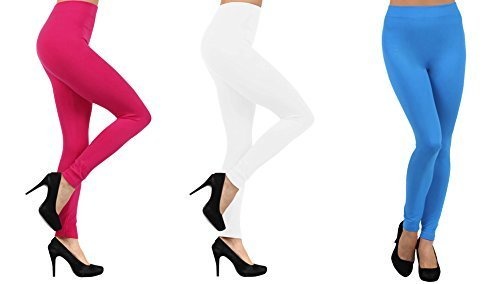 Primary image for ICONOFLASH Women's Casual Fleece Lined Winter Weight Legging, (3-Pack, Bright...