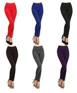 Women's Heavy Weight High Waist Fleece Leggings, (6-Pack, Twilight... - $36.62