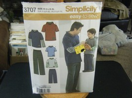 Simplicity 3707 Men's & Boy's Hooded Shirts & Pants Pattern - Size S-XL ... - $8.90
