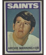ARCHIE MANNING Rookie Card RP #55 RC Saints 1972 T Free Shipping - $2.75