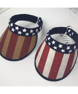 Stripe Stars American Flag Visor Cap 4th of July Hat Man Women Navy Snap... - $11.99