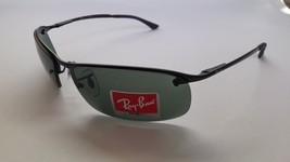 Ray-Ban Sunglasses 3183 006/71 63/15 Black/ Green Lens Metal New & Original - £61.69 GBP