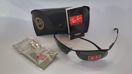 Ray Ban Sunglasses 3183 Top Bar 006/71 Black/ Green Lenses 100% New & Or... - £61.69 GBP