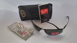 Ray Ban Sunglasses 3183 Top Bar 006/71 Black/ Green Lenses 100% New & Or... - $85.99