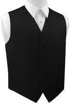 XS - 6XL. Italian Design. Black Satin Formal, Wedding, Prom Tuxedo Vest - €14,06 EUR+