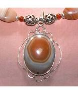 Sterling Silver Handmade Carnelian Necklace with Pendant - $115.00