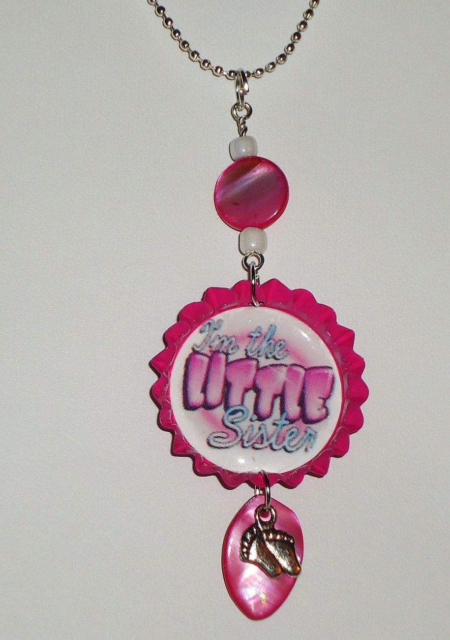 Im the LITTLE sister necklace with 18 inch ball chain