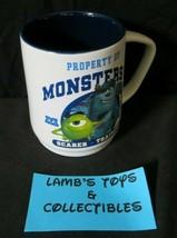 Disney Store Pixar Property of Monsters U scarer training coffee soup mug cup - $29.63