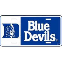 Duke Blue Devils Block Style License Plate - $11.25