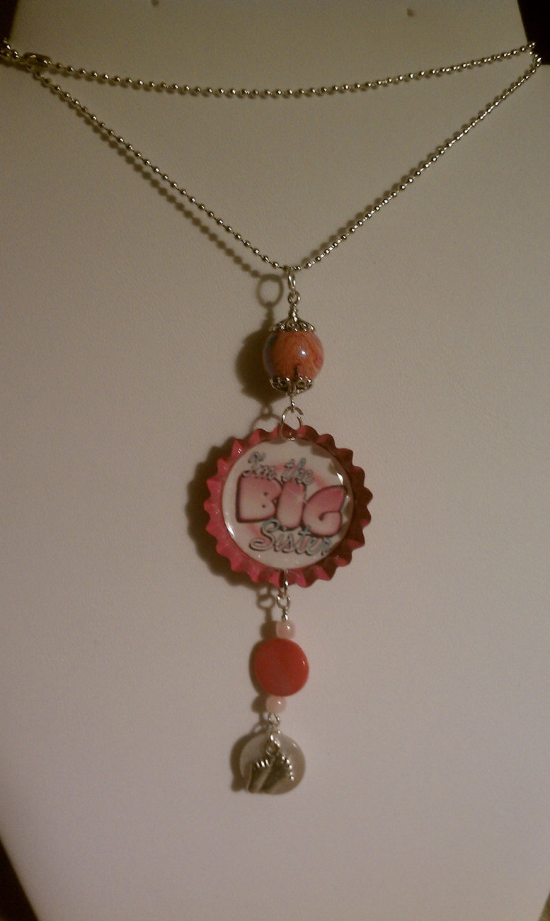 "for big sisters everywhere- ""Im the big sister"" pendant on a 19"" ball chain... p"