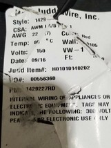 Judd Wire 1429-22-7T 22awg UL-1429 XLPVC 80C/150V Hook-Up/Lead Wire Red/... - $39.59
