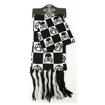 NEW 2 PCS SCARF AND BEANIE HAT PUNK GOTH SKULL WINTER WARMER SET - $26.53 CAD
