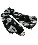 NEW BLACK PINK RED DIAMOND SKULL SCARF PUNK GOTH ROCK WINTER NECK WRAP #... - £11.33 GBP