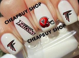 40 Atlanta Falcons Nfl Football Logos》Tattoo Nail Art Decals《NON-TOXIC - $16.99