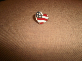 American Flag Heart Shape  Pin , Avon - $3.00
