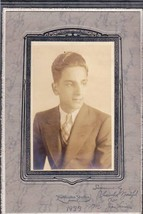 Charles Ned Nawfel Cabinet Photo - Waterville Maine (1933) - $17.50