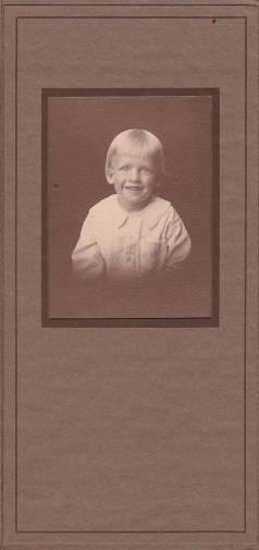 Ralph Mervin Horn Cabinet Photo (1916)