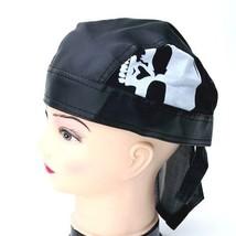 NEW UNISEX BIKER CAP DOO RAG DURAG ROCKER WEAR HAT HEAD WRAP SKULL BANDA... - ₹546.88 INR