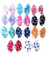 PET SHOW Dot Small Dogs Hair Bows With Clips Bowknot French Barrette Cli... - $22.88