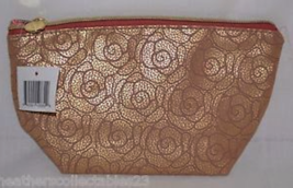 Ulta Gold Leatherette Bag with Embossed Roses. NWT - $6.99