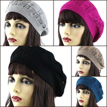 NEW WOMEN FASHION DESIGN CROCHET KNITTED WINTER BEANIE BERET HAT SKI HT4... - $6.62 CAD