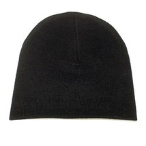 NEW WINTER SKI SNOWBOARDING HAT KNITTED SKULL CAP PLAIN SOLID BLACK BEAN... - $5.90 CAD
