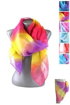 New Multi-Colored Tie Dye Fashion Scarf Scarves Blue Purple Red Turquois... - $11.93 CAD