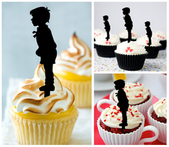 Decorations Wedding,Birthday Cupcake topper,Kids couple kissing Package : 10 pcs - $10.00