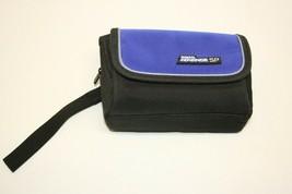 Nintendo Gameboy Advance SP Carry Case Belt Bag Organizer Black Blue - $9.89