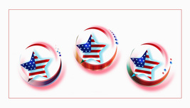 *HAPPY 4TH JULY* Digital Illustration 3 JPEG Image Download - $2.94