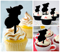 Ca65 Decorations cupcake toppers the little mermaid Ariel silhouette : 1... - $10.00