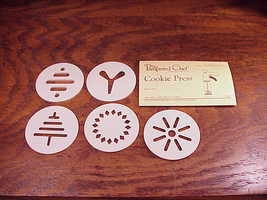 Pampered Chef Cookie Press 5 Disks and foldout instruction recipes cards... - $5.95