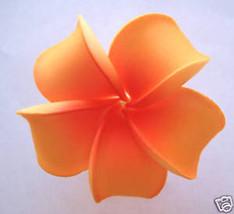 Hawaiian Hawaii Foam Flower Bridal Wedding Party Hair Clip Orange Plumeria - €5,23 EUR