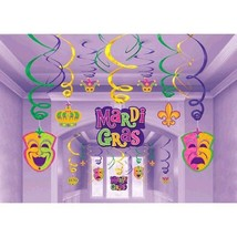 Mardi Gras Hanging Decorations Swirls Mega 30 P... - $12.91