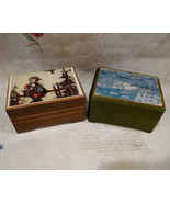REUGE Music Box Set of 2 Boxes Vintage Collectibles HUMMEL and VILLAGE S... - $34.95