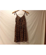 DIVIDED by H&M Cheetah Printed Spaghetti Strap Dress Front Zipper, size 6 - $24.74