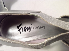 FIONI Night Womens Silver Sparkle High Heels Open Toe Pumps Sandals Size 8.5-9 image 6