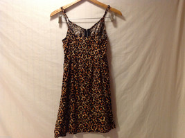 DIVIDED by H&M Cheetah Printed Spaghetti Strap Dress Front Zipper, size 6 image 2