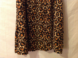DIVIDED by H&M Cheetah Printed Spaghetti Strap Dress Front Zipper, size 6 image 4