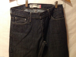 LEVI'S 514 Mens Slim Straight Black 100% Cotton Denim Jeans Pants, size 30x32 image 3